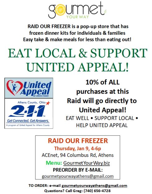 2020 01 09 Raid Our Freezer for UAforAC